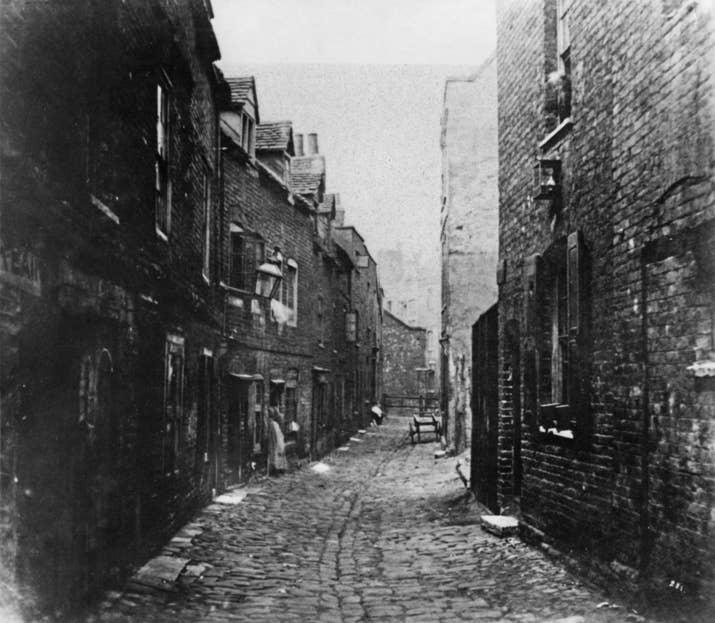 Calle londinense (aproximadamente 1860).