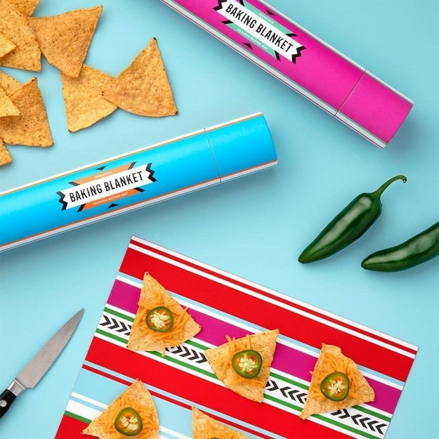 A non-stick baking blanket befitting nachos, cookies, and other nom-worthy treats.