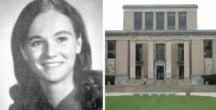 En noviembre de 1969, la estudiante de 22 años estaba en la Biblioteca Patte de Penn State cuando la apuñalaron en el pecho. Había tan poca sangre que nadie se había dado cuenta de que había sido apuñalada, hasta que fue al hospital. 47 años más tarde, la policía sigue recogiendo activamente información sobre el caso. —marie23s y leahb4