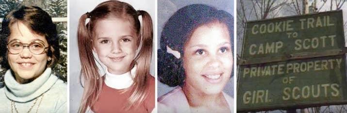 En 1977 tres chicas jóvenes fueron halladas en su tienda de campaña del campamento de exploradoras. Fueron violadas y estranguladas. Los supervisores del campamento dormían a pocos metros de allá. Un reo local prófugo fue arrestado por el caso, pero el tribunal acabó absolviéndolo por falta de pruebas.—m436
