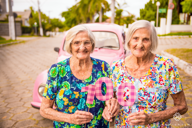 """""""I had never met someone 100 years old,"""" she said. """"And twins!?"""""""