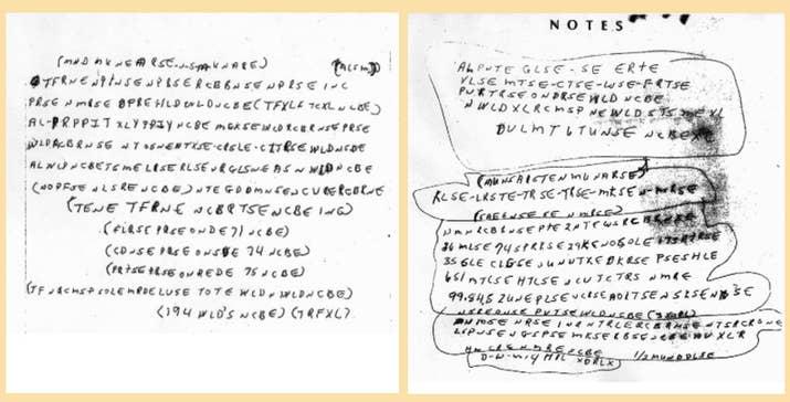 En junio de 1999, el cuerpo de McCormick, de 41 años, se encontró en un campo de Misuri. Se reportó su desaparición solo a las 72 horas, pero su cuerpo sugería que había muerto mucho antes. En 2011 el FBI divulgó dos notas enigmáticas que se encontraron en su bolsillo y estaban escritas con su letra. Este hecho es algo raro, ya que McCormick era analfabeto y solo sabía escribir su nombre.—cupcakesandblanketcoats