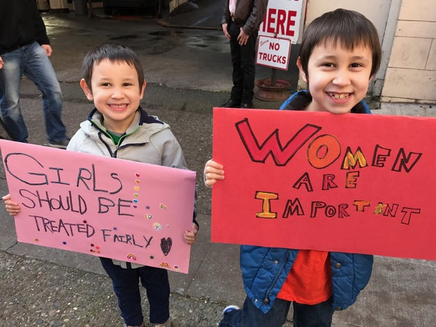 These adorable brothers who believe in gender equality.