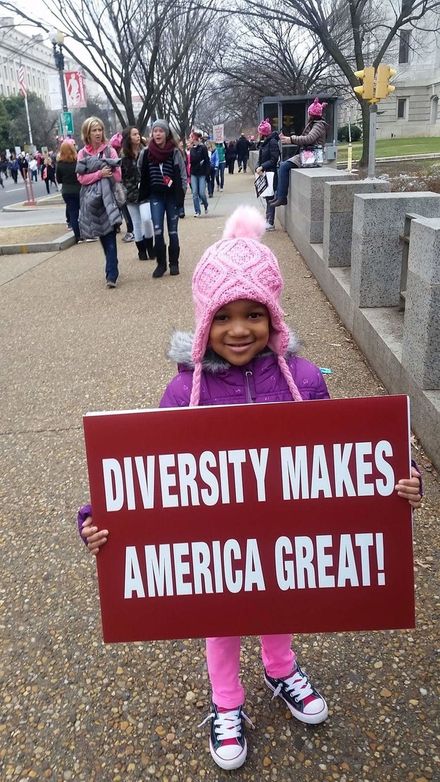 This 5-year-old cutie who knows that diversity matters.