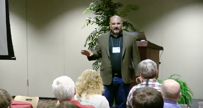 Timothy Slater during a 2014 presentation