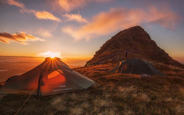 Wild camp beside Suilven in the west of Sutherland...