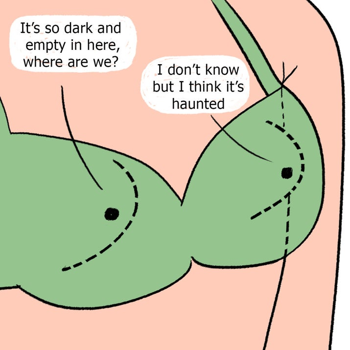 Or a gaping gap where your boobs should be in a top.