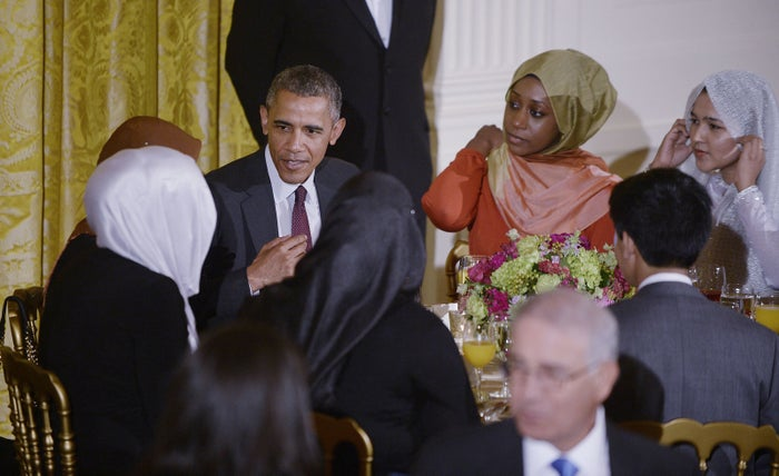President Barack Obama during the 2015 iftar dinner celebrating the Muslim holy month of Ramadan. Muslims don't know if President Donald Trump will carry on the tradition.