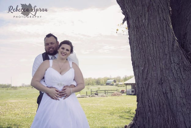 Jenessa McKillen and her husband, Brad, got married on a lovely day in Ontario, Canada, on May 20. Before their wedding at a local hall, the couple posed for photos at Jenessa's family farm, where she grew up.