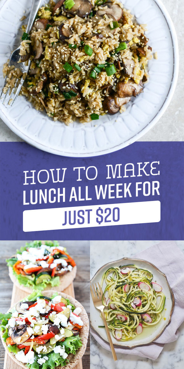 Here's How To Grocery Shop And Make Lunch All Week For $20