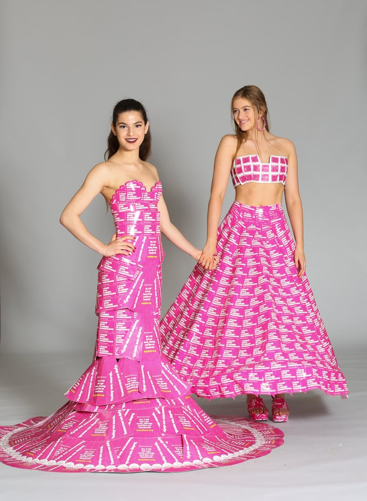 "On the left is Montes, who's 17, and on the right is Balestri, who's 16.""We've been best friends since 6th grade,"" Balestri said. ""This year we thought after everything that's been happening in the world and with this country, it was important to make our dresses beautiful and fun but also to give them some sort of meaning. We decided this was the perfect way to support something we both strongly believed in.""In April, President Donald Trump signed a law targeting domestic funding for Planned Parenthood, a women's health service provider whose offerings include abortion services. In January, the president restored the Mexico City Policy, known by critics as the ""global gag rule,"" which imposes abortion-related restrictions on US foreign aid. The international arm of Planned Parenthood has said that rule will cost the organization $100 million in funding, or about 25% of its budget.Montes said, ""it just seems like such an important part of our culture, that we need to have safer methods [of family planning] and we need to educate. That's the main the point, is to educate people."""