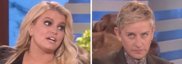 Ellen Had To Take A Deep Inhale After This Interview With Jessica Simpson