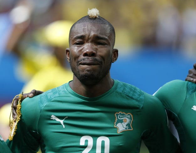 That time at the 2014 World Cup, when Serey Dié, a midfielder for the Ivory Coast national team, was moved to tears by his country's national anthem.