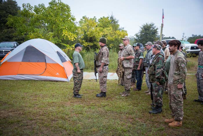 Field training exercises for the Georgia Security Force III% militia, held on private property near Yatesville, Georgia, on Aug. 29, 2015.