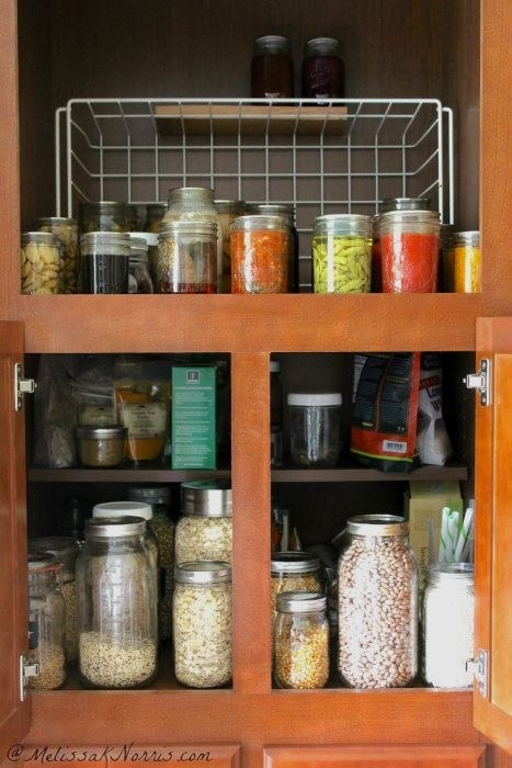 Or opt for glass mason jars, which function similarly but may help things last longer because they're sealable — even without electricity.