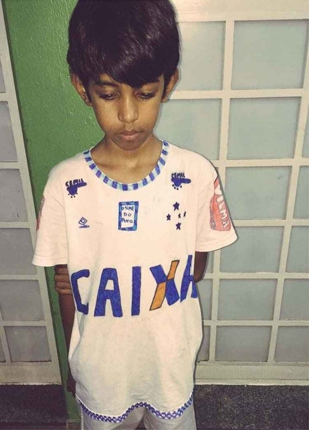 And that time when a young Brazilian soccer fan won us over with his homemade jersey, too...