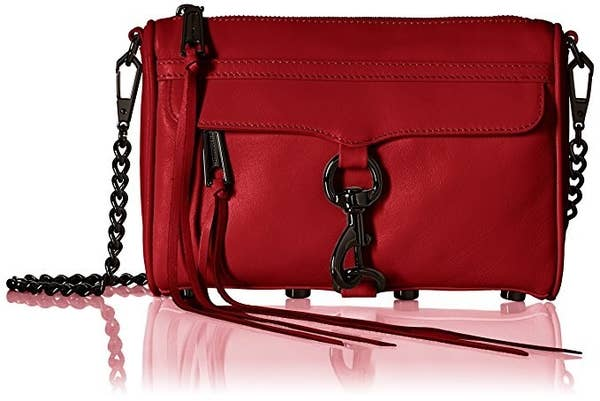 Rebecca Minkoff converteerbare rode cross-body met zacht leder perfect voor elke outfit.
