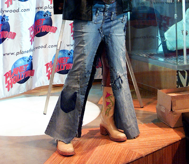 This was a typical pair of jeans back then.