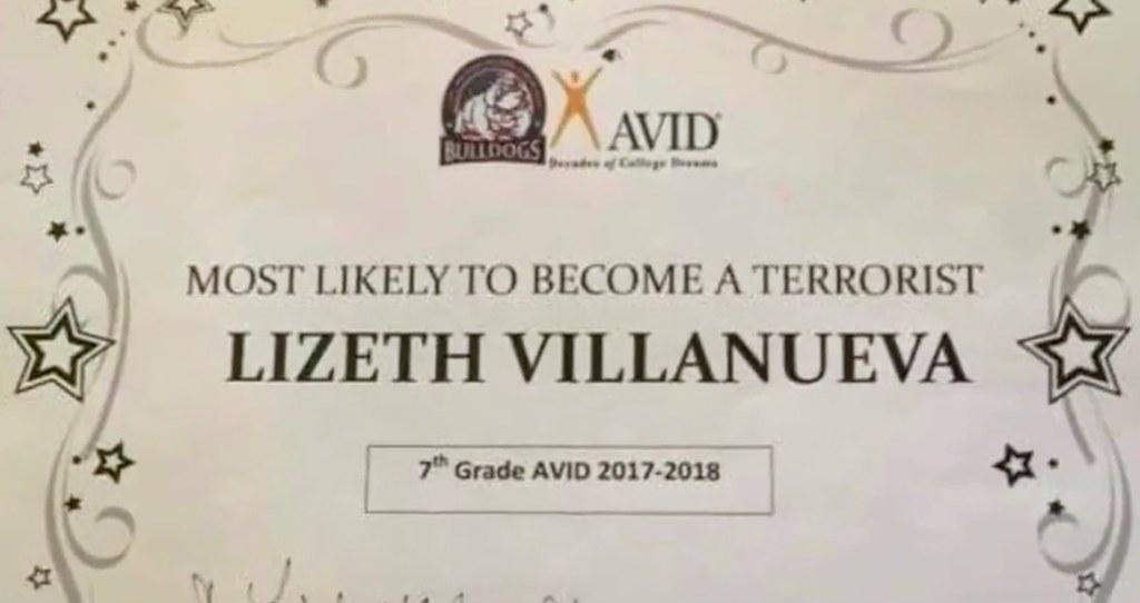 Niña en Texas recibe indignante 'premio':