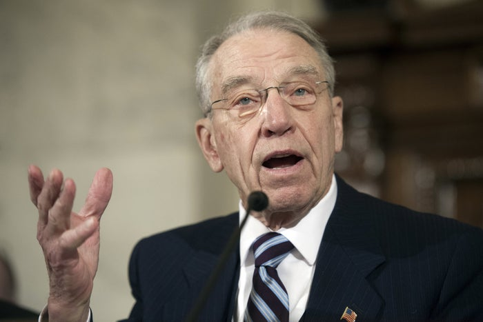 Senate Judiciary Committee Chairman Sen. Charles Grassley, R-Iowa speaks on Capitol Hill in Washington, Wednesday, Jan. 11, 2017. (AP Photo/Cliff Owen)