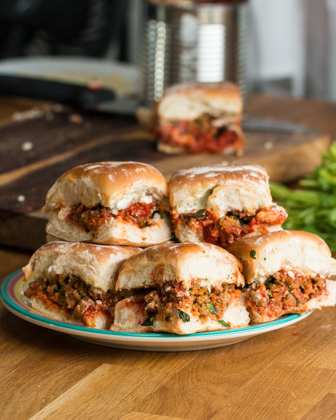 These Chorizo Meatball Sliders As Made By Aaron Sanchez Are Drool-Worthy