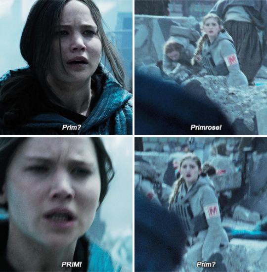 """""""La única razón por la que Katniss arriesgó todo fue para salvar a su hermana y luego la vio morir de todas formas. Ni siquiera he podido ver la última película porque no puedo lidiar con ello"""". – alealibroberg"""