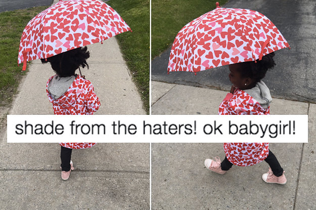 This 3-Year-Old Wore A Matching Jacket And Umbrella To Daycare And Became An Instant Icon