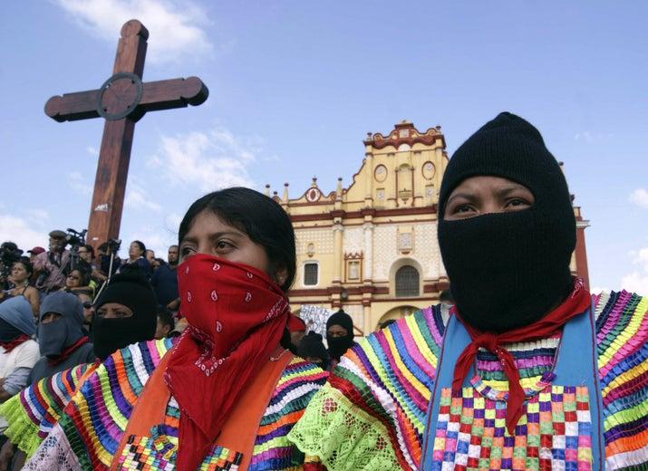 """Cuando se levantó el EZLN, el 1 de diciembre de 1994, """"Marichuy"""" respaldó su movimiento desde Jalisco y es una figura siempre presente en el Congreso Nacional Indígena."""