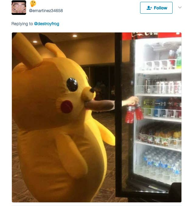 Pikachu Got All Weird And Decided To Stick Its Arm Out Its Mouth