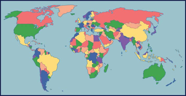 How Many Countries Bordering B Countries Can You Name