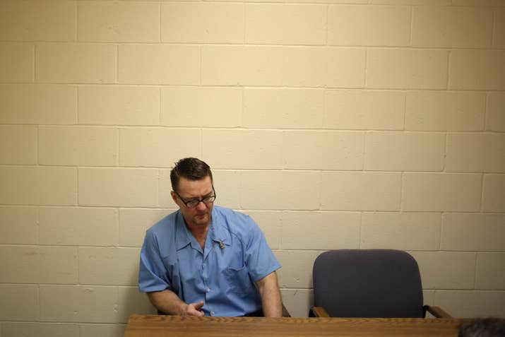 Adam Gray speaking to BuzzFeed News in prison in Feb. 2016