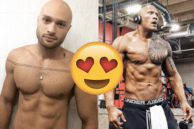 Bald gay hot male underwear photo