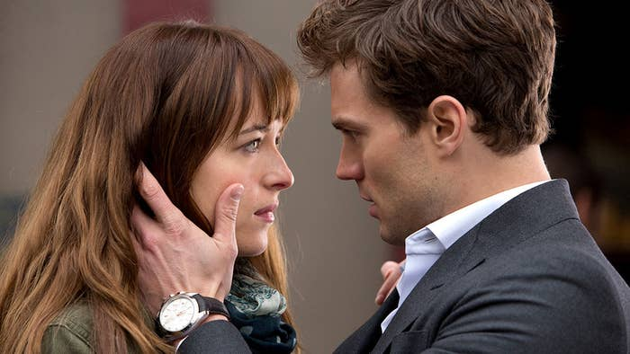 """For those who know nothing about the series: college student Anastasia (Ana) Steele meets a young billionaire named Christian Grey and he introduces her to the world of BDSM. Of course they fall in love even though Christian is """"closed off"""" (he's mad rich/hot so let's ignore all the red flags) and decides he doesn't need countless women to sign contracts to enter into sadistic relationships with him — Ana is the only one for him!"""