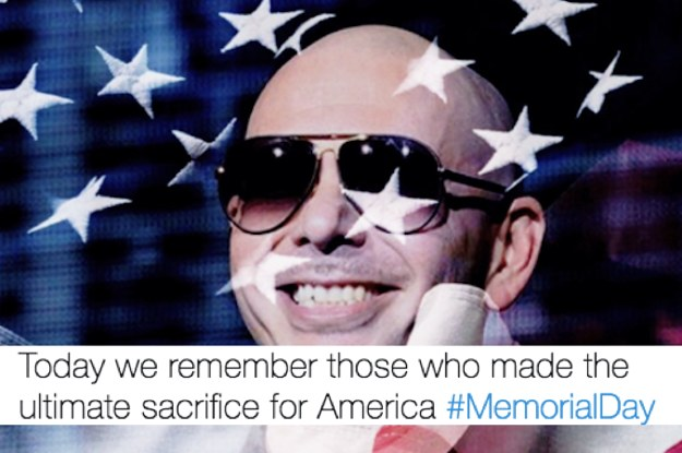 People Are Brutally Roasting Pitbull Over His Memorial Day Tweet