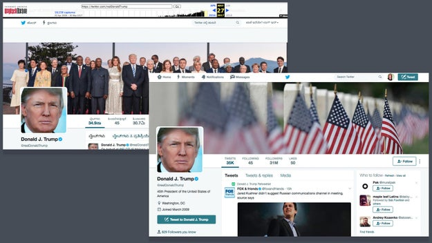 Archive.org also shows the president's personal account, @realDonaldTrump, had 30.7 million followers three days ago and 31 million on Tuesday.