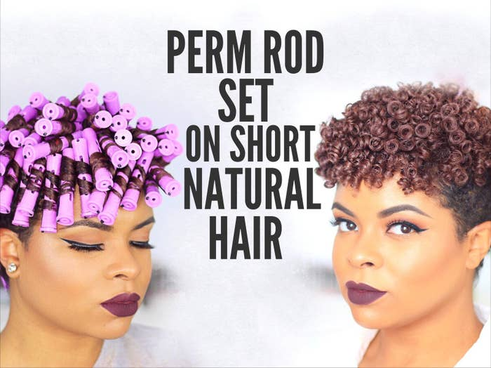 Perm Rod Set On Short Hair