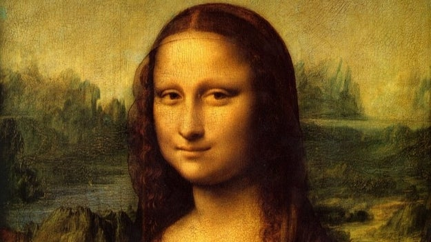 The saucy minx who soft-smiled her way into the Louvre.