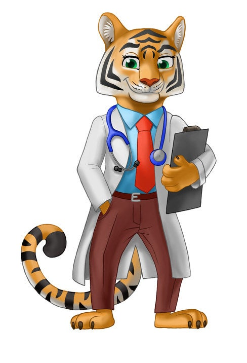 You might recognize this sexy tiger doctor from that one really strange, yet fulfilling dream you had.