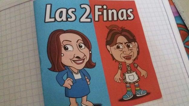 Esta semana comenzó a circular un cómic que apoya a Josefina y ataca a Delfina.
