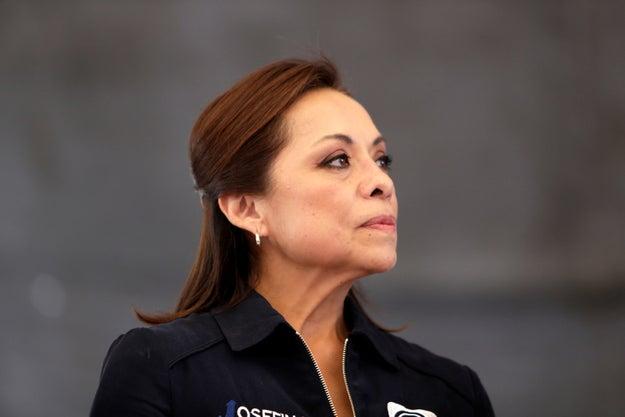 Ella es Josefina Vázquez Mota, candidata del PAN al Gobierno del Estado de México.