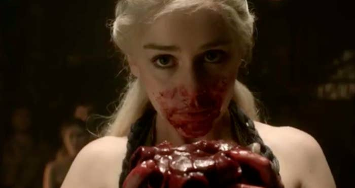 """When Dany ate the horse heart to prove her power and worth to her husband. My first thought was what a badass queen!"" —maggies4634c002c"