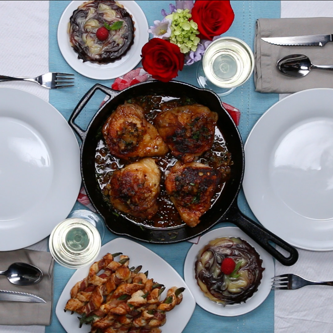 Romantic Roast Chicken Dinner for Two