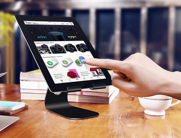 Get the tablet stand here.