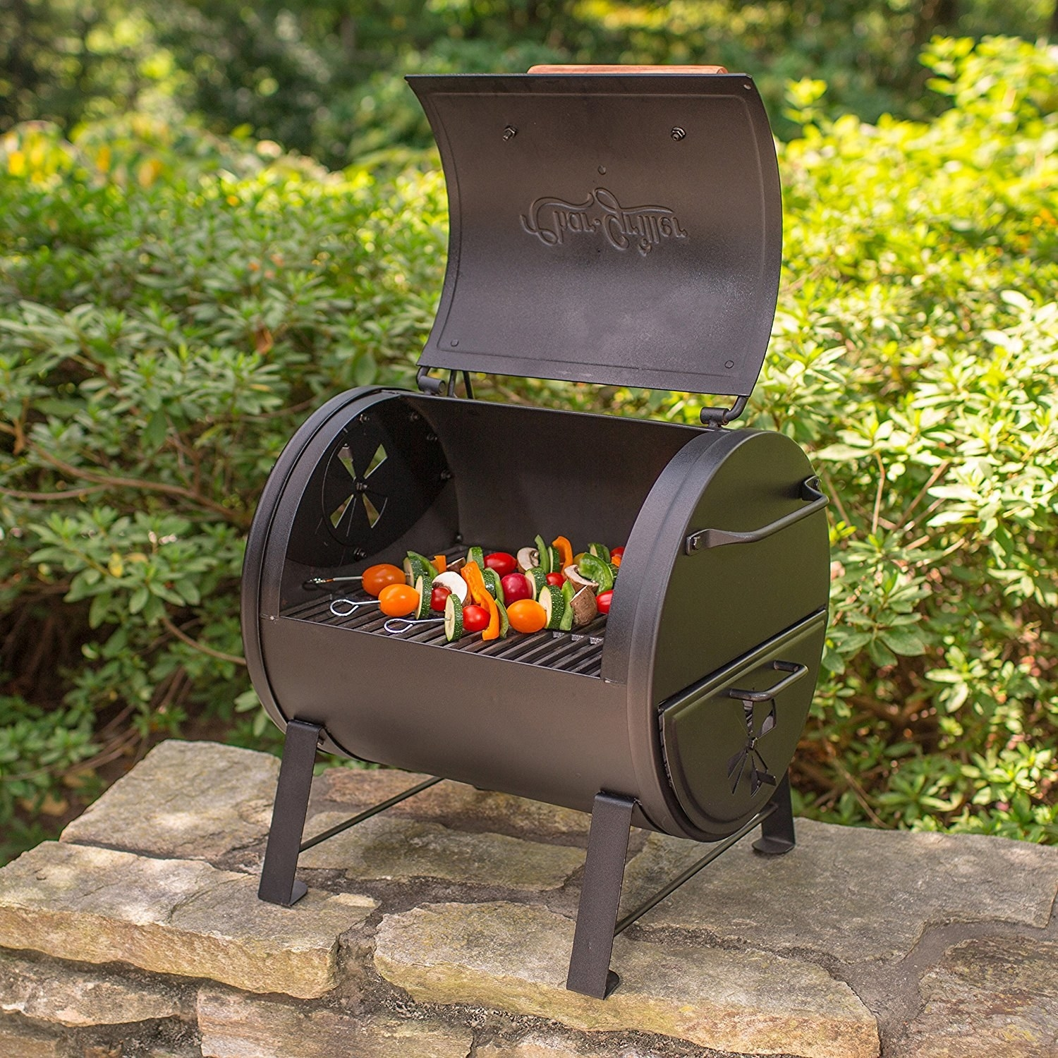A Tabletop Grill You Can Also Mount As A Side Fire Box On A Barrel Grill.