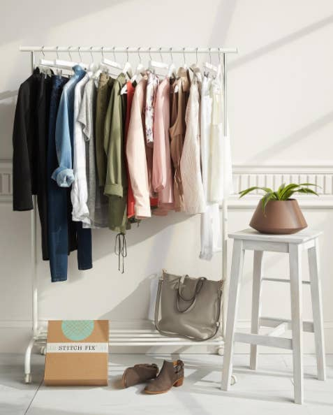 What you'll get: Five items per box, including clothes, shoes, and accessories. Buy what ya' like and send back what ya' don't in a prepaid USPS envelope. Sweeeeet.Get it from Stitch Fix for $20 for the personal styling fee and $55+ per item you choose to buy (sizes women's XS-3X, men's XS-2X).