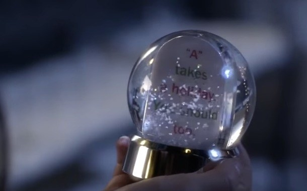 When the Liars just happened to grab the ONE snow globe from A out of a sack FULL of snow globes.