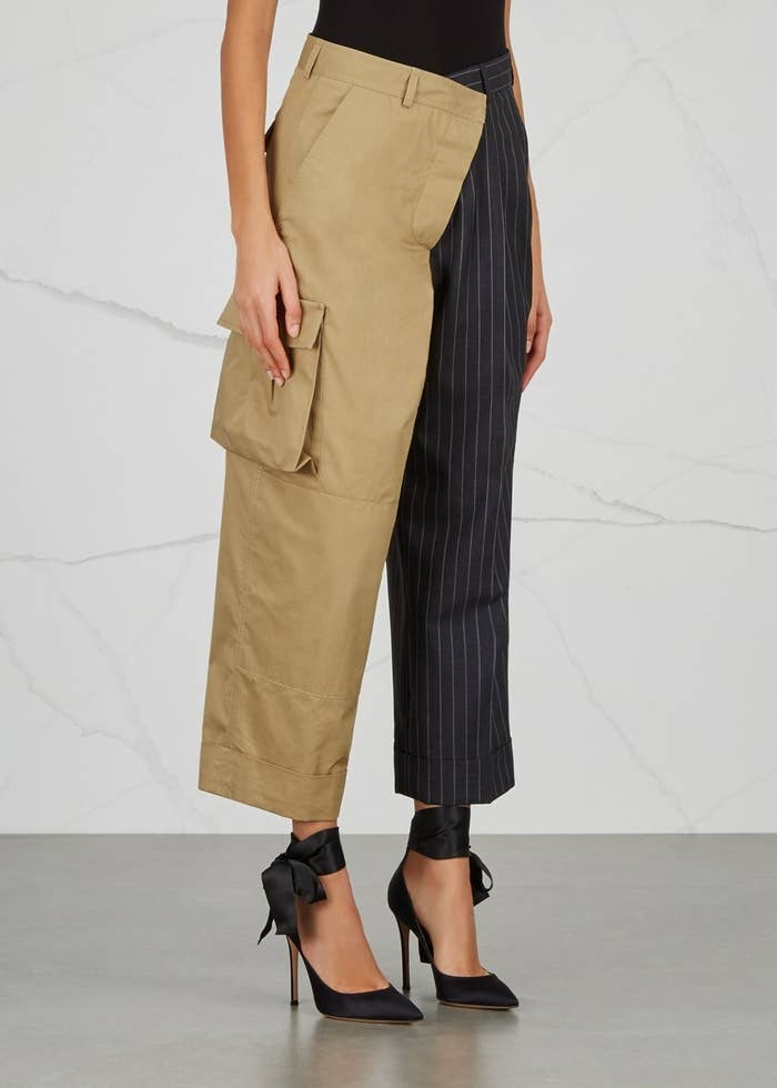 fa3a20462 Have you ever had that moment when you can't decide whether to go out  wearing cargo trousers or pinstripe trousers? Panic no more, you can wear  both at the ...