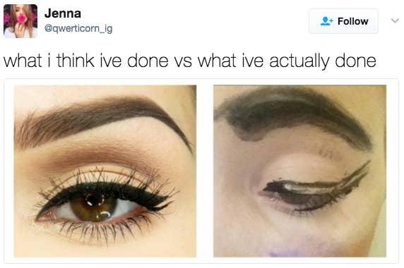 18 Memes For Anyone Who's Slightly Bad At Makeup