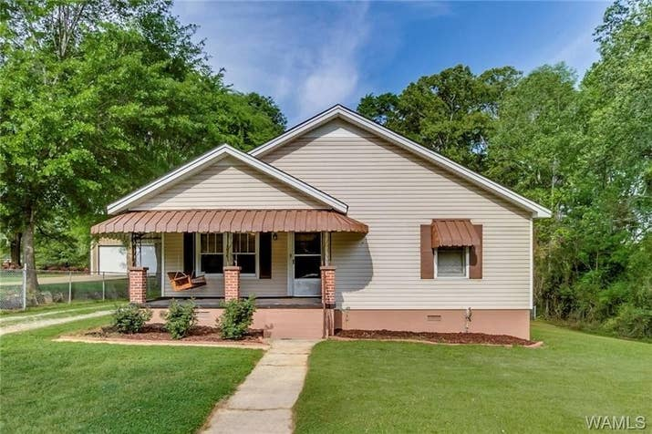 Size: Two bedrooms, one bath, 1,212 sq. ft. Location: Tuscaloosa County. The town has a total population of about 9,000.