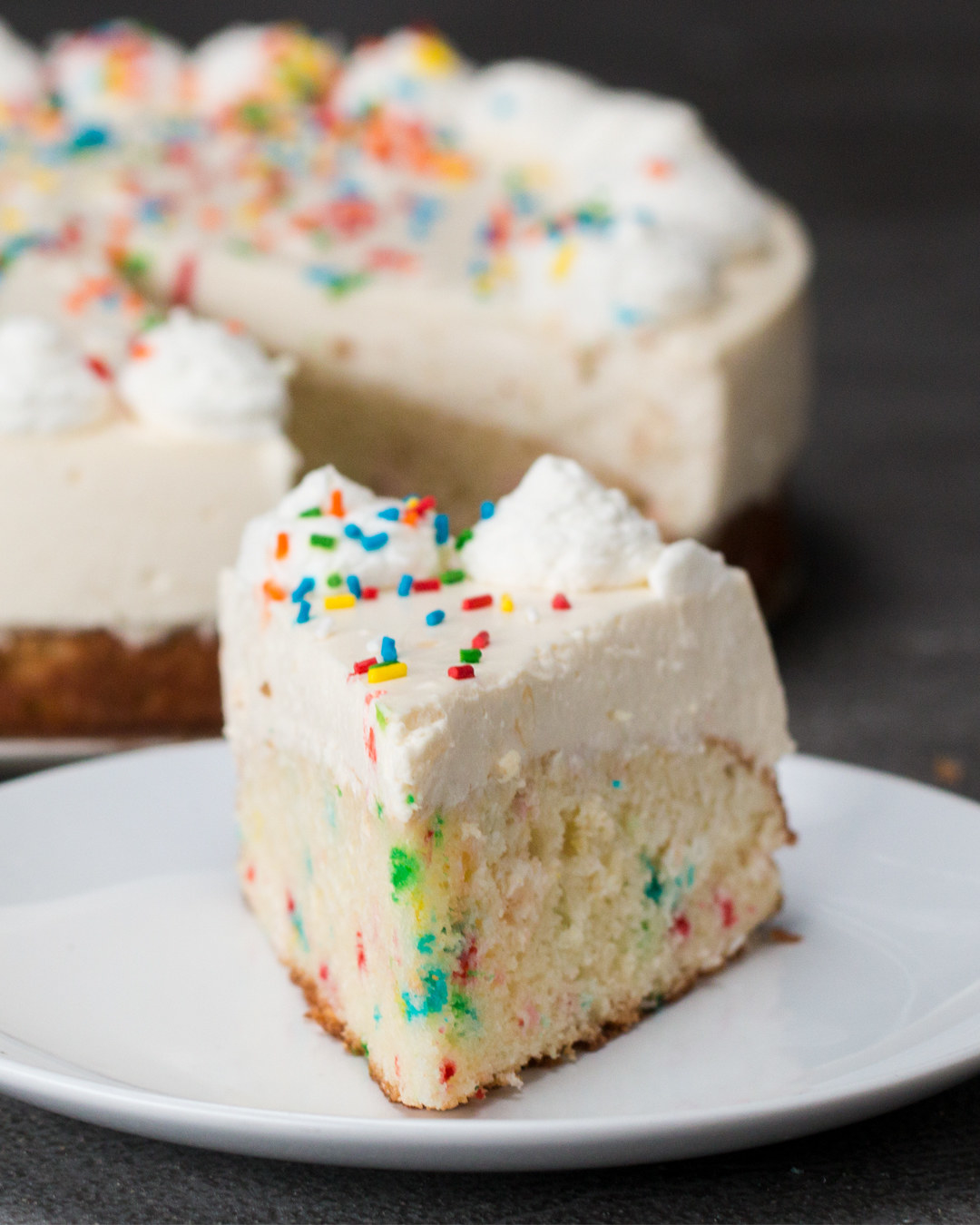 This Birthday Cake Bottom Cheesecake Is The Only Way You Should Eat